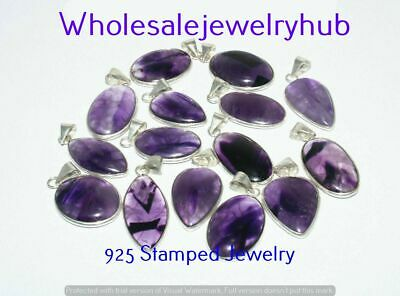 $ CDN19.06 • Buy Amethyst 10 Pcs Wholesale Lots 925 Sterling Silver Plated Pendant LP-22-245