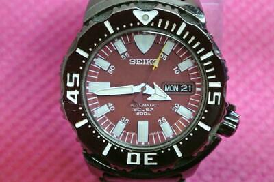 $ CDN506.43 • Buy Seiko 7S26-03G0 Diver Night Monster Automatic Mens Watch Auth Rare Red Dial
