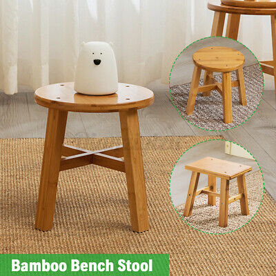 £13.59 • Buy Wooden Small Stool Footstool Bar Stool Chair Home Kitchen Round Square Bench UK