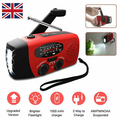 £14.89 • Buy Dynamo Wind Up Solar USB Rechargeable Hand Crank Portable AM FM Radio Light UK