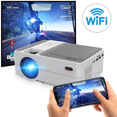 LCD LED Mini Wifi Projector Full HD Home Cinema Airplay For IPhone HDMI USB UK • 158.99£