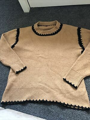 £10 • Buy Ladies Oversized Slouchy Zara Jumper Size M Thick Knit M 12/14/16