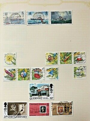 100+ Guernsey Stamps From 1989 To 1996 Including High Face Value • 0.99£