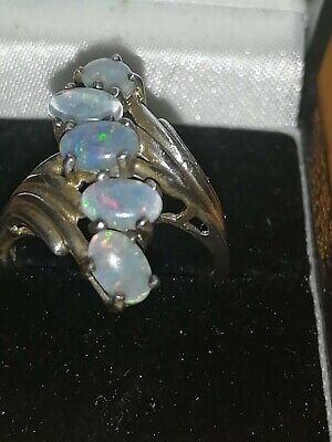 925 Silver And Opal? Ring Size Q • 35£