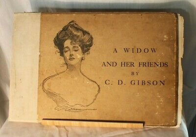 A Widow And Her Friends - Picture Book By C.D. Gibson Printed In 1903-435x290mm • 4.99£
