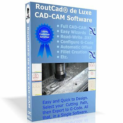 $149.99 • Buy CAD CAM Software Luxe CNC Mill Mach 3 EMC2 G-Code With Tutorial Video Download
