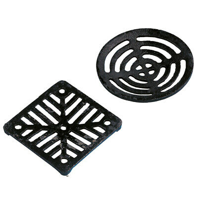 £9.99 • Buy Drain Cover Cast Iron Square Dish Round Gully Grid Grate HeavyDuty Black Outside