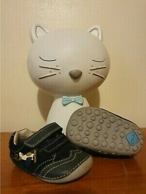 Clarks Boys Cruiser Tiny Liam Suede First Shoes Airplane Infant Pre Walker UK 2G • 15£