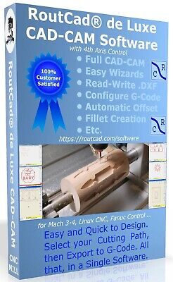 $249 • Buy CAD CAM Software G-Code Mach 3-4 Linux EMC2, Fanuc, CNC3040 Mill 4 Axis Download