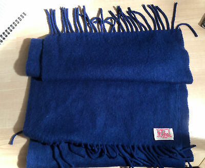 N.PEAL CASHMERE SCARF Electric Navy BLUE GENUINE ACCESSORIES Vintage • 33£