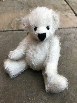 Teddy Bear Making Kit In White Mohair (intermediate Level Crafter) Peanut • 28.50£