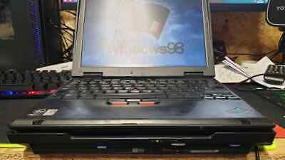 Vintage IBM ThinkPad X20 Docking CD Floppy & Charger Type 266238G Intel P3 • 300£