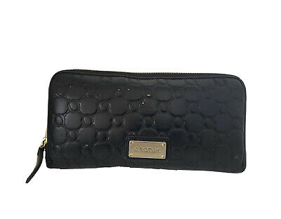 AU8 • Buy Oroton Roche Multi Pocket Leather Wallet Clutch Black Lots Of Space (!)