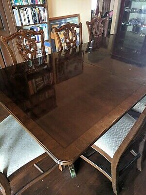 AU50.50 • Buy Dining Table And Chairs 8 Plus Matching Lowline Buffet, Timber, Good Condition