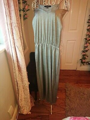 Ladies Silver Jumpsuit Size 10 Used But Excellent Condition • 2£