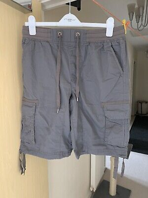 Men's Summer Shorts Airwalk Cargo Shorts Combat Board Grey Size 30/32 Waist • 9.99£