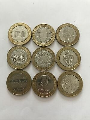 Rare 2 Pound Coins - Job Lot, Good Collectable Condition. • 25£