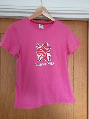 £6 • Buy London 2012 Olympics Official T-shirt Pink Collectable Merchandise Size 16
