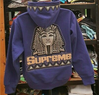 $ CDN483.99 • Buy FW20 Supreme Pharaoh Studded Hooded Sweatshirt Washed Navy Size S Small Hoodie