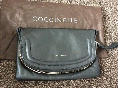COCCINELLE - Black Leather Clutch Bag • 20£