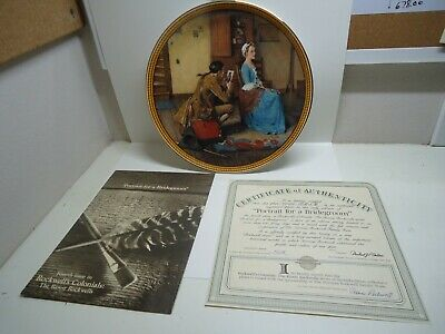 $ CDN12.70 • Buy Vintage Edwin Knowles Norman Rockwell Portrait For A Bridegroom Collector Plate