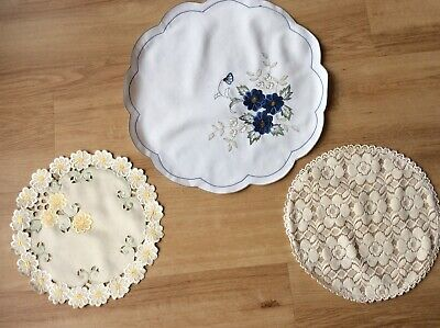 Dressing  Table Mats/ Placemats X 3. Very Pretty • 3.99£