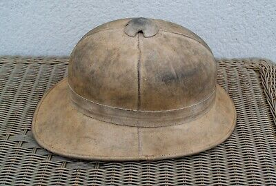 Antique British Army Pith Helmet Military Size 6 3/4 Inches Great Condition • 95£