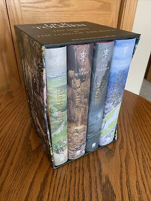 £530.99 • Buy J.R.R Tolkien Alan Lee Signed Hobbit Lord Of The Rings Illustrated Boxset 1st