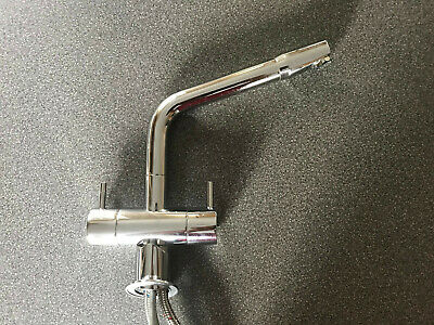 £95 • Buy Rangemaster Kitchen Tap Twin Lever Monobloc Chrome Swivel Spout With Deck Plate