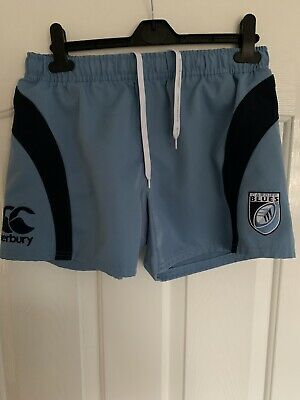 Mens Canterbury Cardiff Blues Players Rugby Shorts Size 34 • 5£