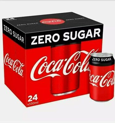 Coke Zero Sugar Diet Coke Pack Of 24 330 Ml Cans Fizzy Drink Coca-Cola Real Can  • 15£