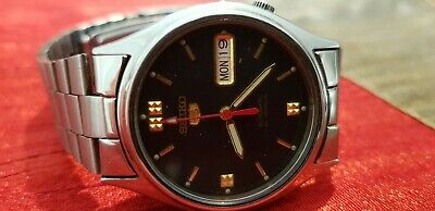 $ CDN14.27 • Buy Vintage Seiko 5 Automatic Japan Made Date Day Black Dial S/S Men's Watch Repair