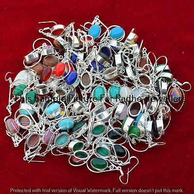$ CDN19.06 • Buy Turquoise & Mixed 10 Pair Wholesale Lots 925 Silver Plated Earrings Lot-24-290