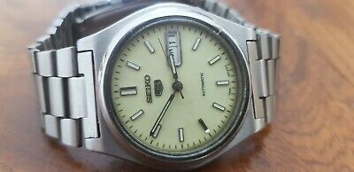 $ CDN12.30 • Buy Vintage SEIKO 5 Automatic Japan Made Day Date Men's St.Steel Watch Working VGC