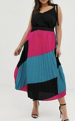 AU18.50 • Buy Never Worn With Tags Asos' Capsule Pleated Midi Skirt Plus Size 22