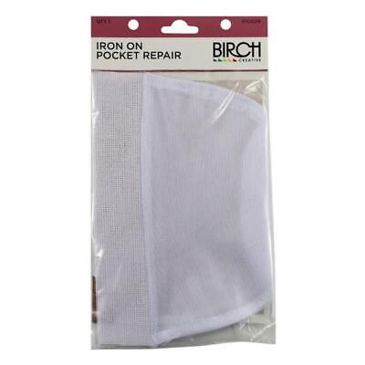 £5.37 • Buy Iron On Pocket Repair Kit For Clothes, Pants, Jeans, Trousers NEW