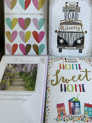 Mixed Pack 10  Sympathy, Get Well, Thinking Of You, New Home, Anniversary Cards • 21£