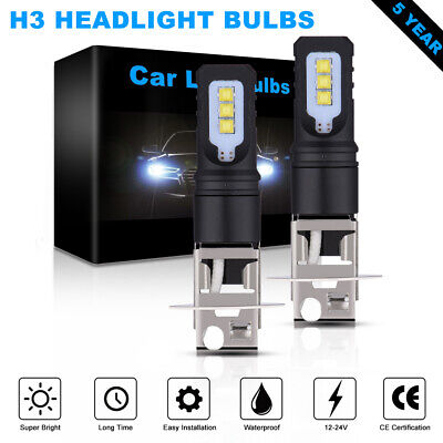 AU13.08 • Buy 160W H3 LED Bulbs Fog Light Headlight Bulbs DRL Day Running Lamp 12000LM LD2180