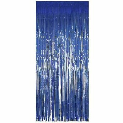 $4 • Buy 1m , 2m Blue Shimmer Foil Door Curtains For Party Decorations ,birthday Parties