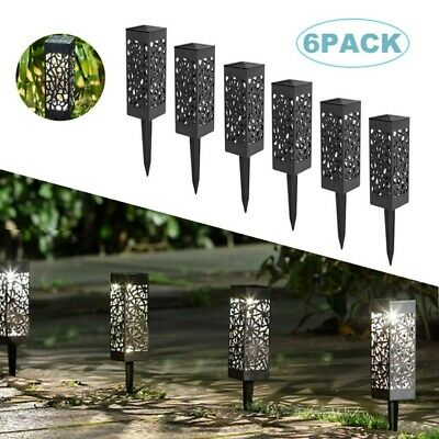 Solar Lights Outdoor Garden Stake 6 Pack Warm White LED Ornament Pathway Lights • 12.99£