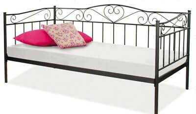 £69.99 • Buy Austin Metal Bed Frame Day Bed 3ft Single Sofa Guest Bed 2 Colours
