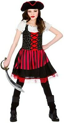 Childrens Fancy Dress Pretty Pirate Girl Costume Childs Pirate Outfit New W • 2.60£