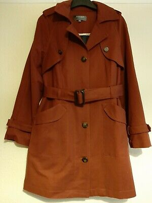 Ladies M&S Limited Collection Rust Coat Size 14 • 12£