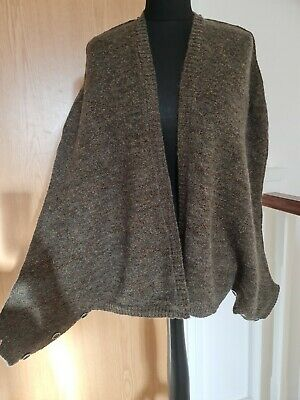 M&S Limited Collection Gold Sparkle Brown Knitted Cardigan Jumper Size XS • 2.10£