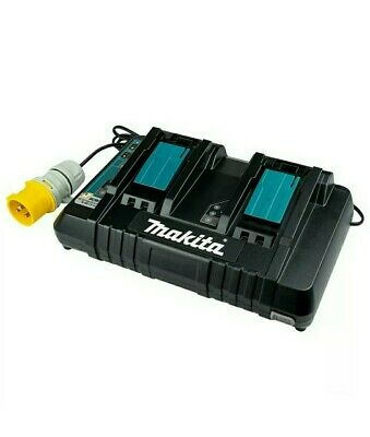 110v MAKITA DOUBLE/TWIN-PORT FAST CHARGER - DC18RD • 0.99£
