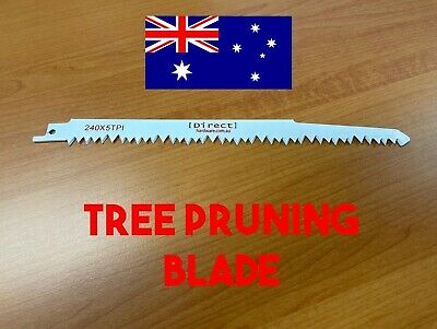 AU8.90 • Buy 5TPI 240mm Reciprocating Saw Blade Tree PRUNING ROOT Cutting THICK HEAVY DUTY