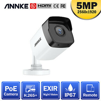 ANNKE 1pcs Dome 1080p CCTV IP PoE Camera For Home Security System Kit IP67 Night • 35.49£