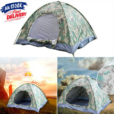 AU44.99 • Buy 2-4 Man Persons Automatic Pop Up Tent Outdoor Hiking Waterproof Camping Fishing