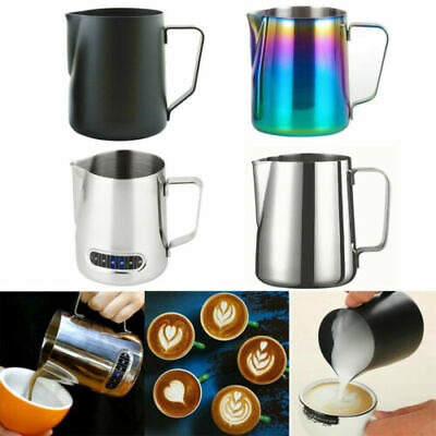 £9.29 • Buy Milk Jug 350ml Stainless Steel Milk Cup Frothing Pitcher For Making Latte Coffee