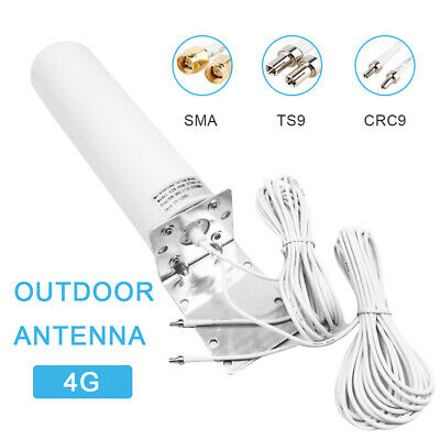 £19.99 • Buy SMA TS9 CRC9 Male 3G 4G LTE Wall Mount Signal Booster Antenna Outdoor Brackets